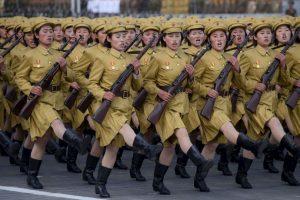 Desfile en Corea del Norte. Foto:AFP