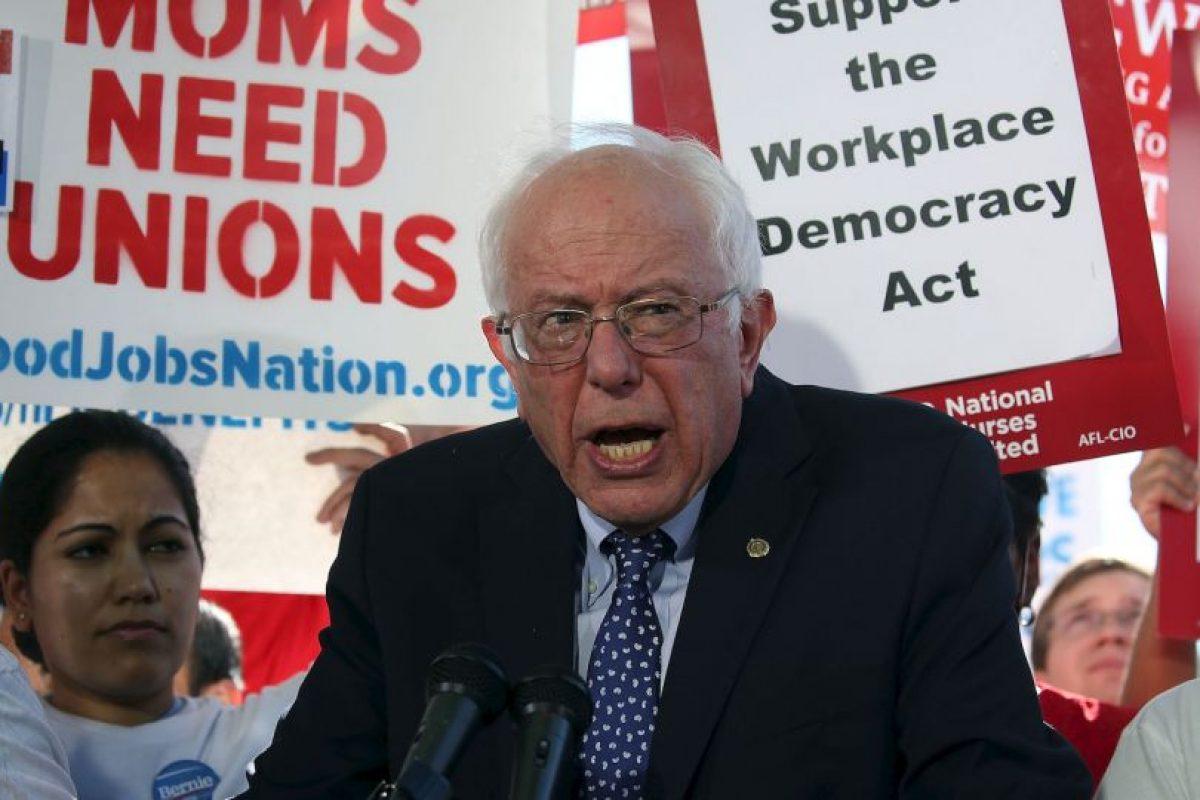Bernie Sanders, tiene 74 años Foto:Getty Images