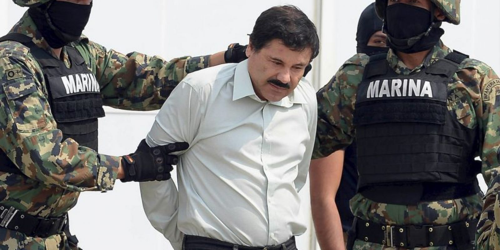 """Joaquín """"El Chapo Guzmán"""" luego de su captura, el 22 de febrero de 2014 Foto:AP"""