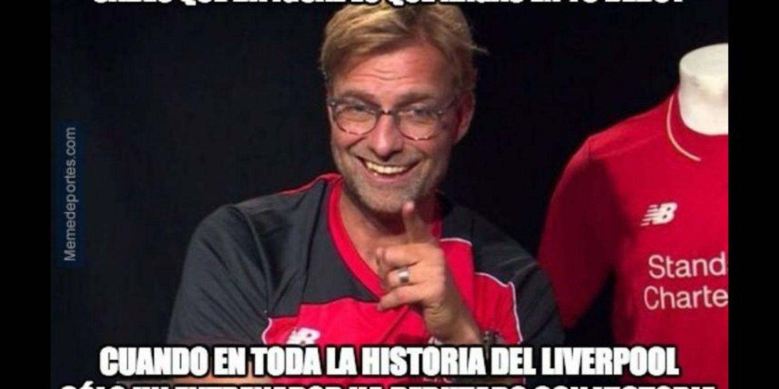 Jurgen Klopp no tuvo el debut soñado y comenzó su era en Liverpool con empate. Foto:memedeportes.com