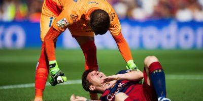 Fue el pasado 26 de septiembre cuando Messi se lesionó en la rodilla. Foto:Getty Images