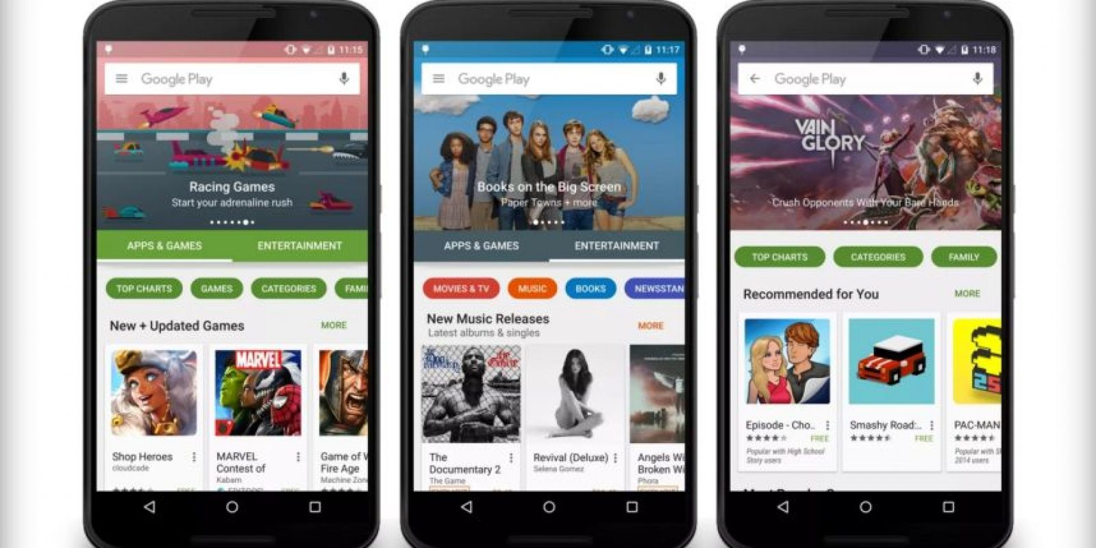 Google Play 5.0 estará disponible próximamente. Foto: vía plus.google.com/+KirillGrouchnikov