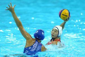 Lo más curioso es que ella juega waterpolo. Foto:Getty Images