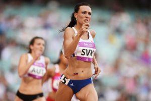 Es una atleta checa que corre los 400 metros planos. Foto:Getty Images