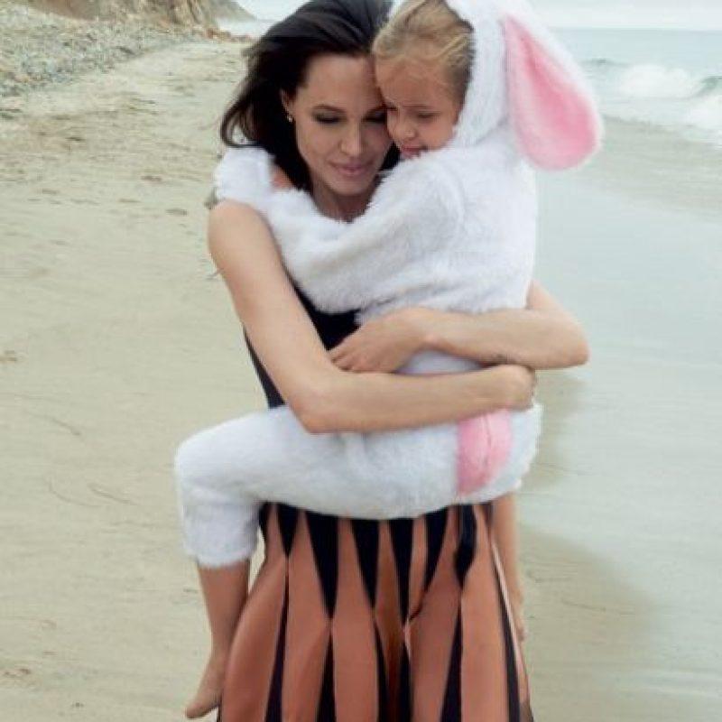 """Así se ve ahora la pequeña Vivienne. Foto:""""Vogue Magazine"""""""