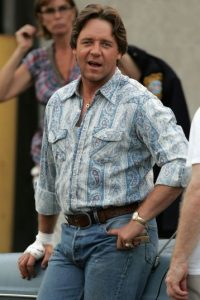 """El actor ganó 25 kilos extra para la película """"Red de Mentiras"""". Foto:Getty Images"""