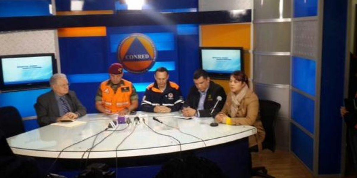 Conred declara alerta anaranjada por incremento de lluvias en todo el país