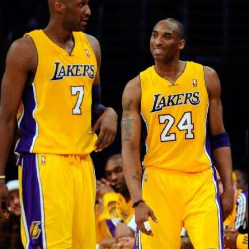 5. Kobe Bryant: Fue compañero de Odom en los Lakers y uno de sus amigos cercanos. Foto:Getty Images