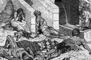 En aquella época no existían los antibióticos, por lo que la mortandad alcanzó calidad de pandemia. Se repitió sucesivamente hasta 1490. Foto:vía Wikipedia