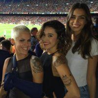 La modelo publica en sus redes sociales sus fotos apoyando a Alves. Foto:Vía instagram.com/joanasanz