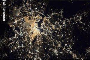 Así luce Washington DC de noche desde la ISS Foto:Instagram.com/NASA