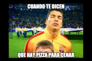 Y mientras Luis Suárez generaba el primer meme del partido… Foto:memedeportes.com