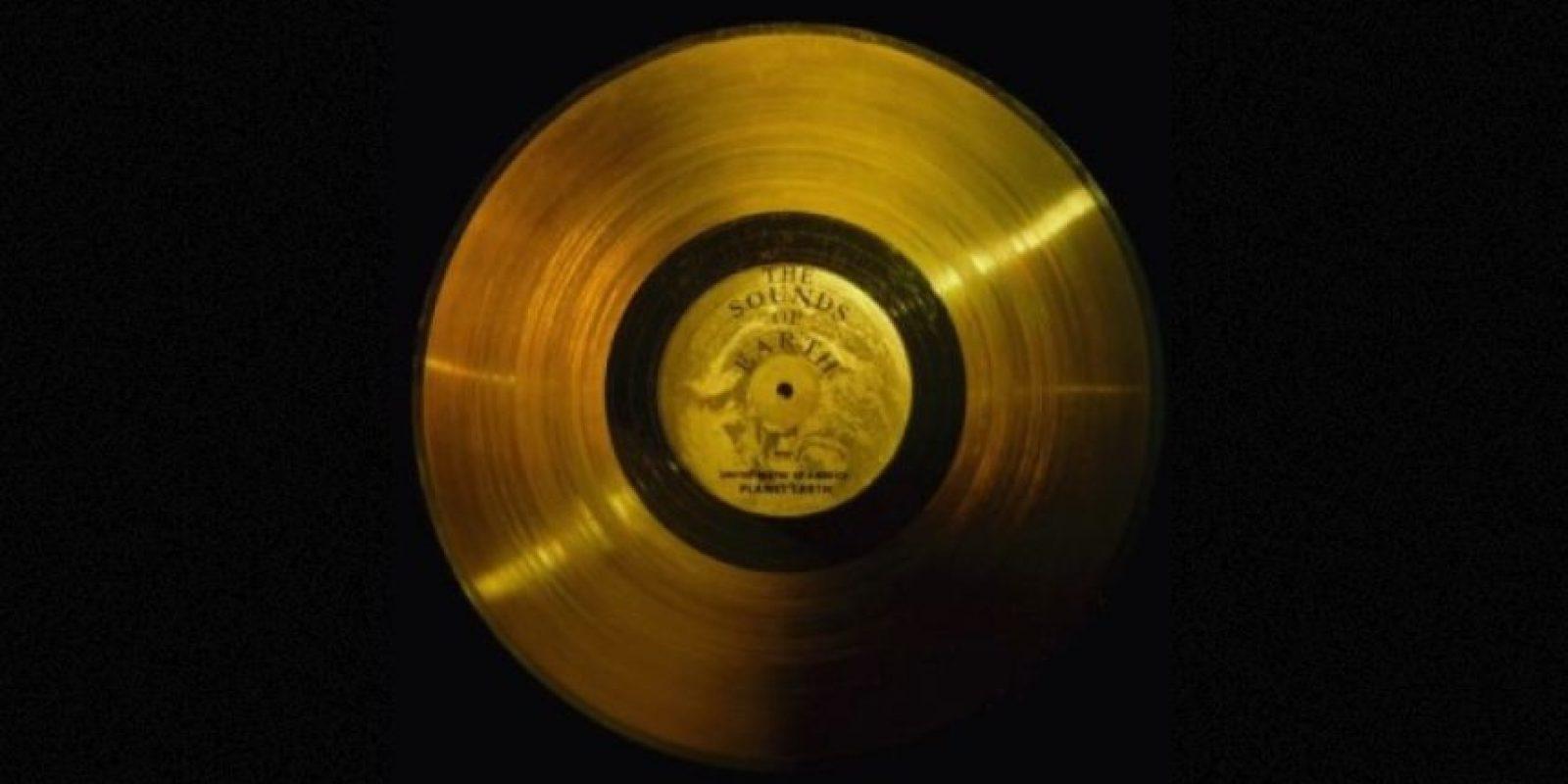 2. El disco de oro de las Voyager Foto:Wikimedia