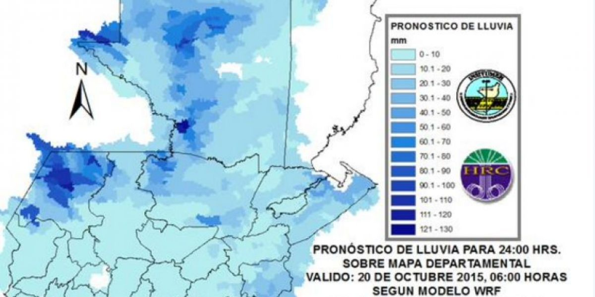 Insivumeh prevé 24 horas más de lluvia