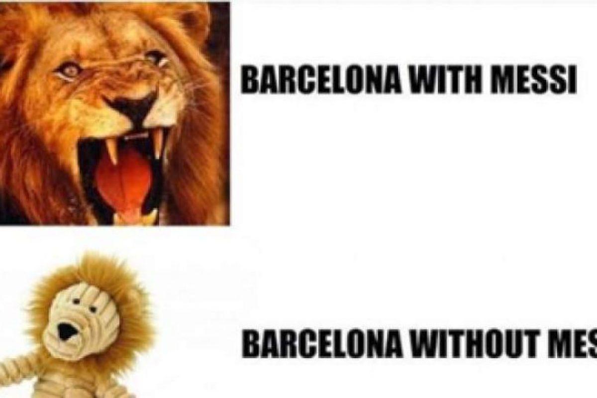 Así ven al Barça sin su máxima estrella. Foto:Vía twitter.com