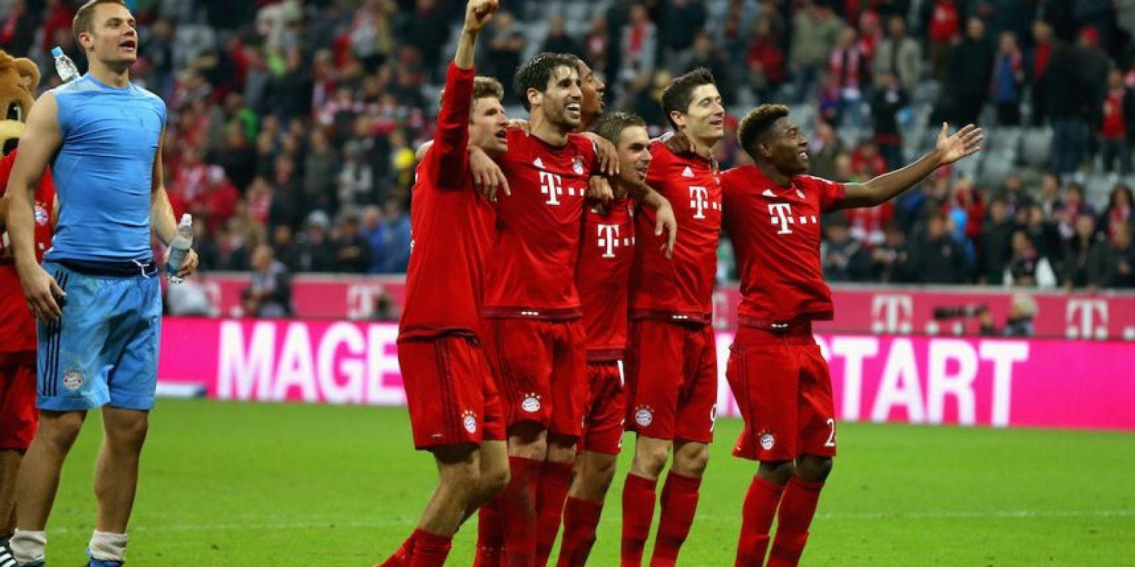 Los hombres de Pep Guardiola suman 27 puntos y están a 7 unidades del segundo lugar, Borussia Dortmund. Foto:Getty Images