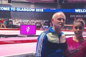 La gimnasta se encuentra en Glasgow, Escocia, para la competencia mundialista. Foto:Cortesía: Ana Sofía Gómez