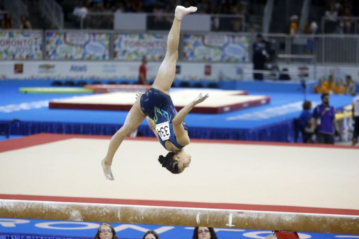 La gimnasta se encuentra en Glasgow, Escocia, para la competencia mundialista. Foto:Publinews