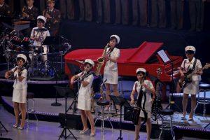 El concierto fue parte de la celebraciones del 70 aniversario de la creación del Partido de los Trabajadores de Corea del Norte. Foto:AP