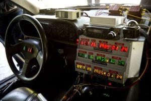 Las réplicas del DeLorean también llegaron a Chile. Foto:AFP