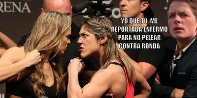 9. Que Bethe Correia hablara de más y fuera noqueada por Ronda Rousey en 34 segundos. Foto:Getty Images