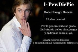 1- PewDiePie: $12 millones de dólares. Foto:Especial / Getty Images