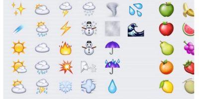 Clima y frutas. Foto:emojipedia.org