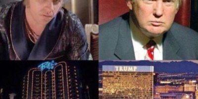 4. Ambos viven en palacios dorados y le rinden culto al dinero. Foto:Twitter