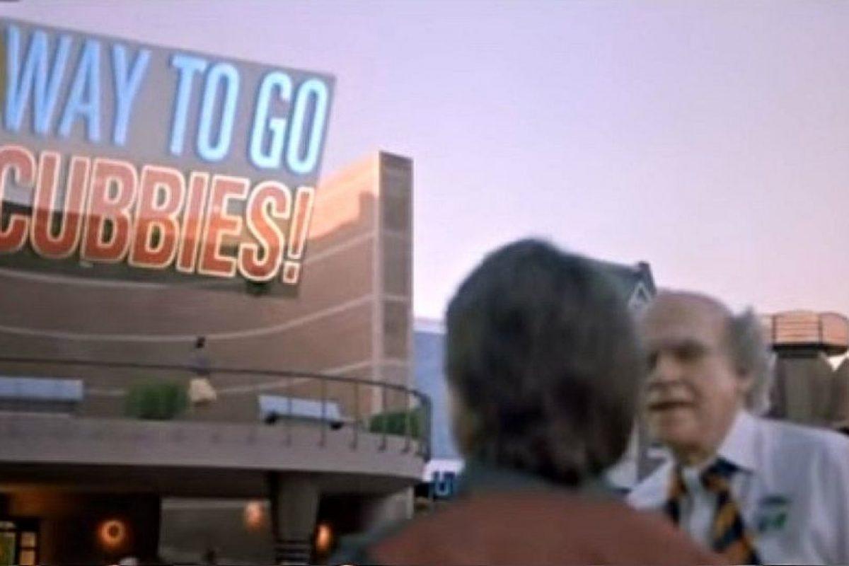 En la película, Marty McFly llega al 2015 el 21 de octubre y lo primero que ve es un letrero que indica que los Cubs son los campeones de la Serie Mundial. Foto:Universal Pictures