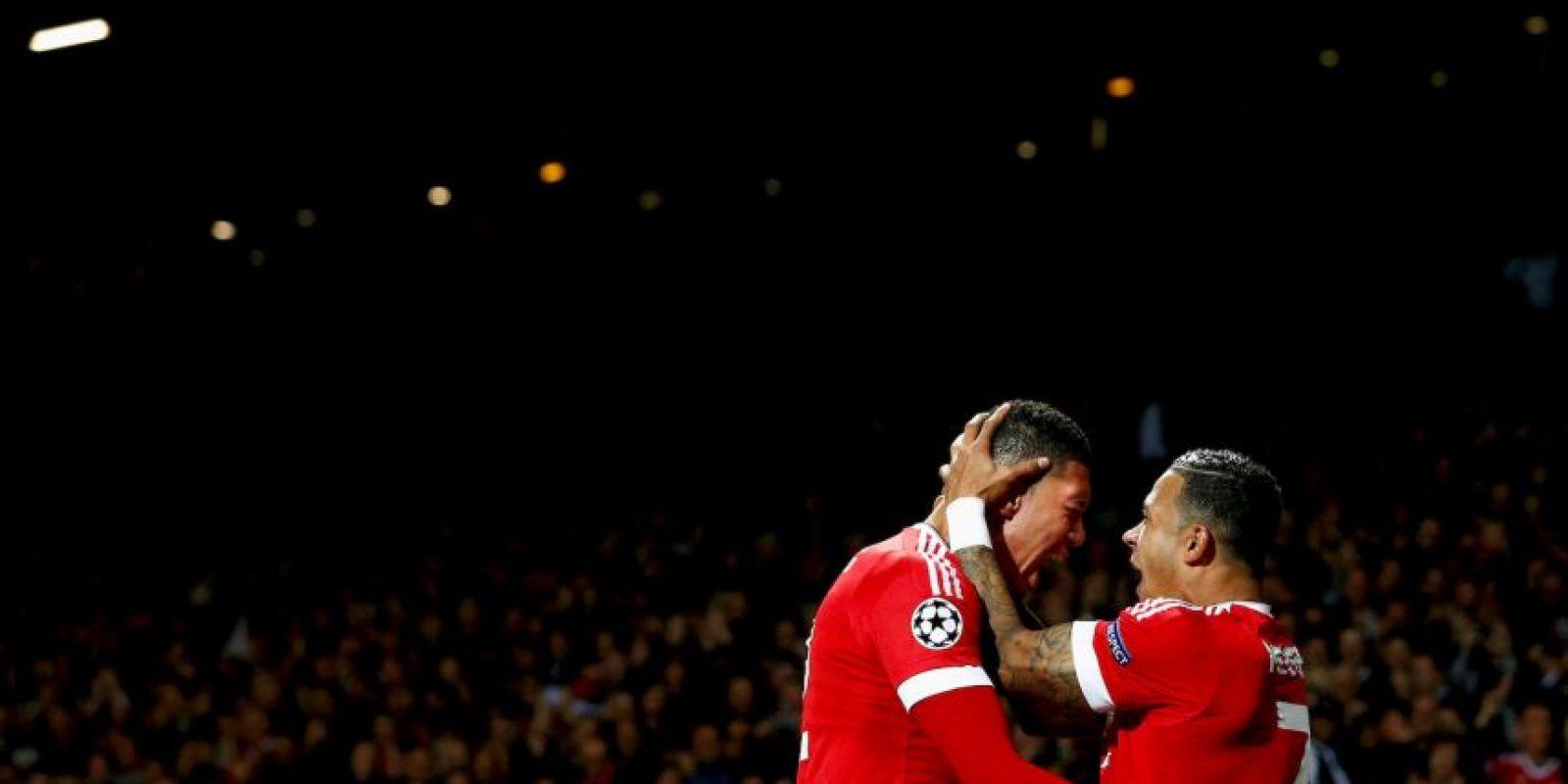 """La victoria les llegó en la fecha 2, en Old Trafford. Ahí, los """"Red Devils"""" vencieron 2-1 al Wolfsburgo. Foto:Getty Images"""