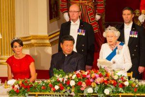 La primera vez fue durante su boda en 2011, la segunda en 2013 en otro evento en el Palacio de Buckingham y en ese ocasión. Foto:Getty Images