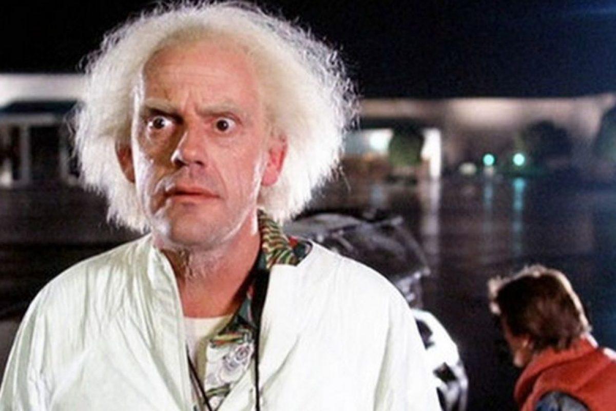 "Dr. Emmett L. ""Doc"" Brown (Christopher Lloyd) Foto:Vía imdb.com"