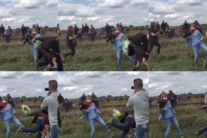 Mientras Petra Laszlo ha perdido reputación, su actitud benefició a uno de los refugiados que atacó Foto:Vía Twitter @hex2