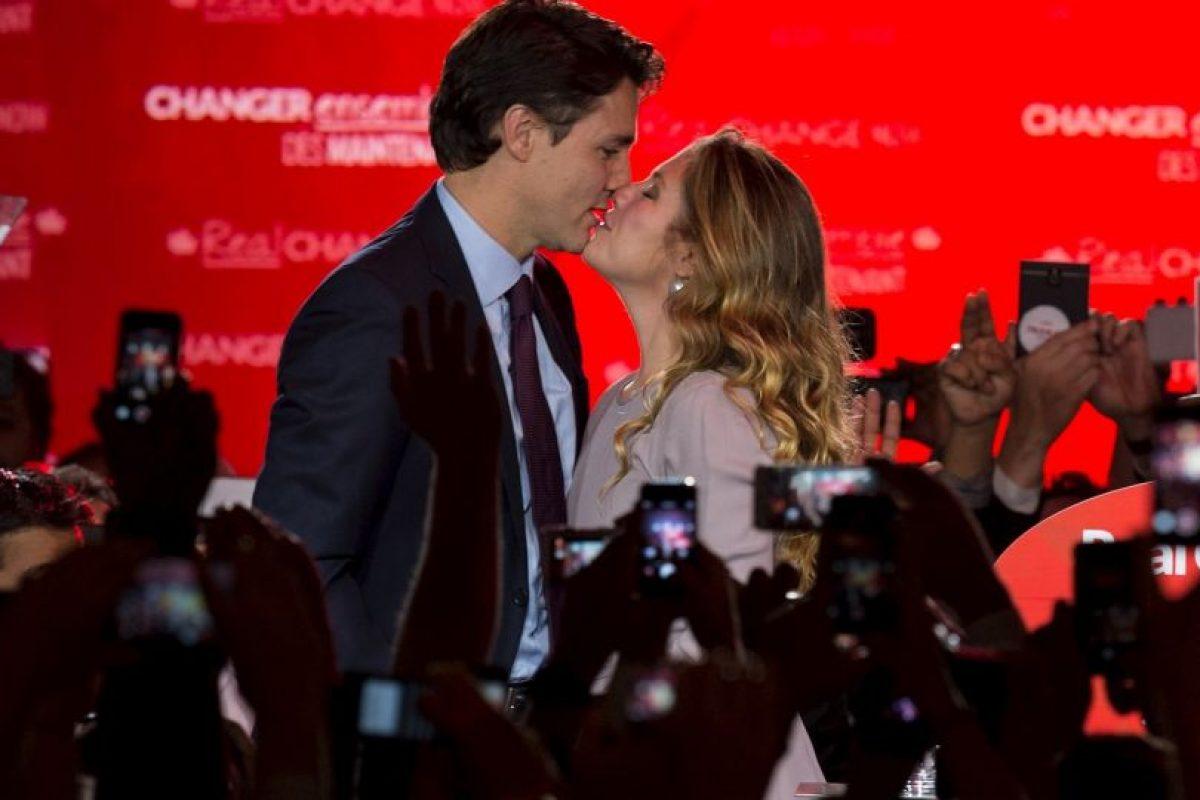 Sophie Grégoire es el nombre de su esposa quien era presentadora de televisión y profesora de yoga. Foto:AFP