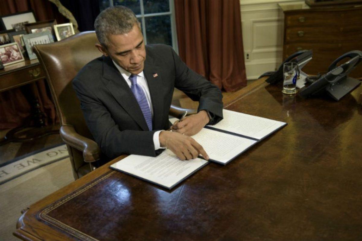 Este es el quinto veto de su mandato. Foto:AFP