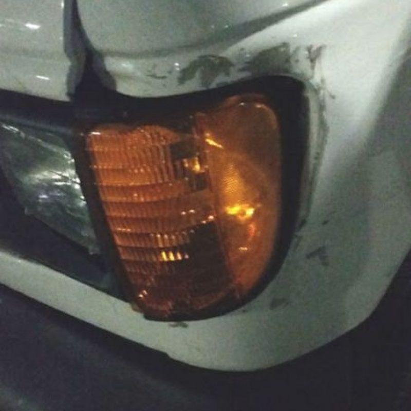 La camioneta también ha sufrido accidentes. Foto:vía frominsidethebox.com