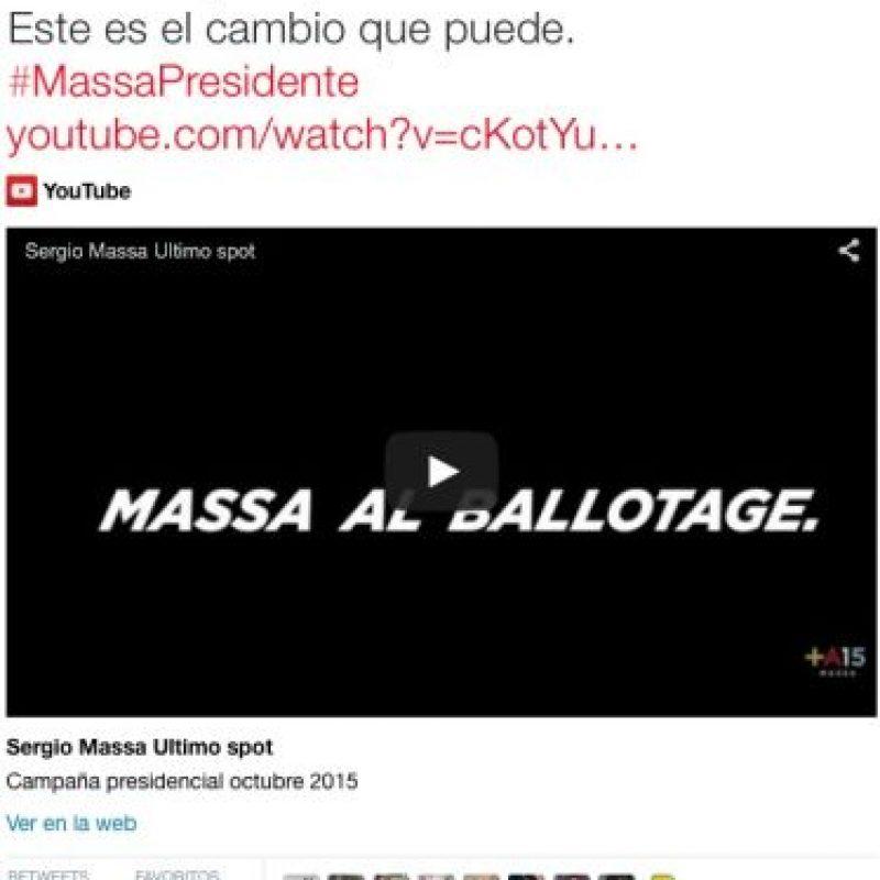 Sergio Massa, candidato de la UNA Foto:Twitter.com