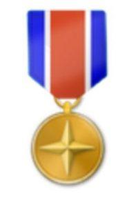 Medalla militar. Foto:vía emojipedia.org