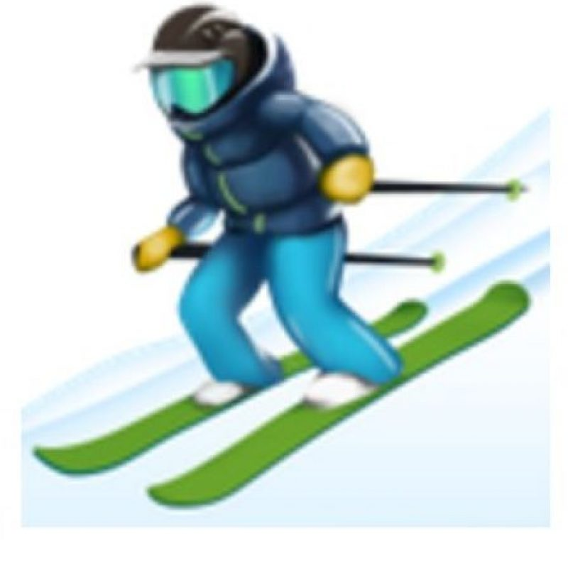 Esquiador. Foto:vía emojipedia.org