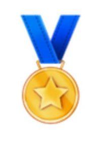 Medalla deportiva. Foto:vía emojipedia.org