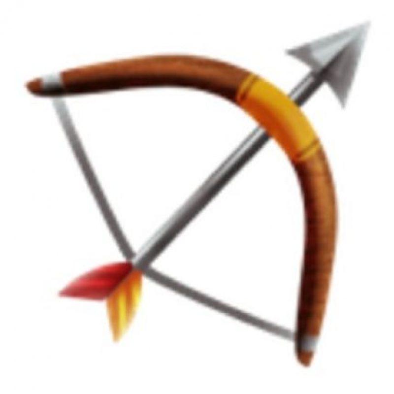Arco y flecha. Foto:vía emojipedia.org