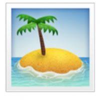 Isla desierta. Foto:vía emojipedia.org