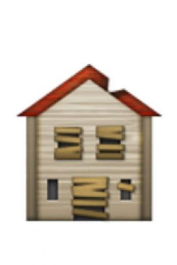 Casa abandonada. Foto:vía emojipedia.org