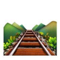 Vías de tren. Foto:vía emojipedia.org
