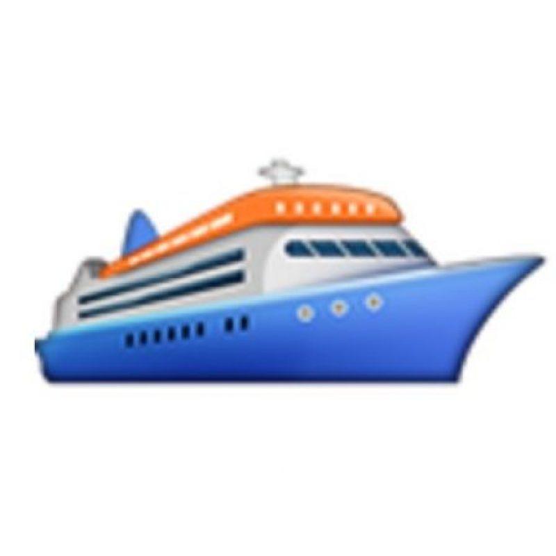 Barco de pasajeros. Foto:vía emojipedia.org