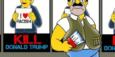 """Un Chapo Guzmán """"simpsonizado"""" se dedica a """"matar"""" a Donald Trump"""