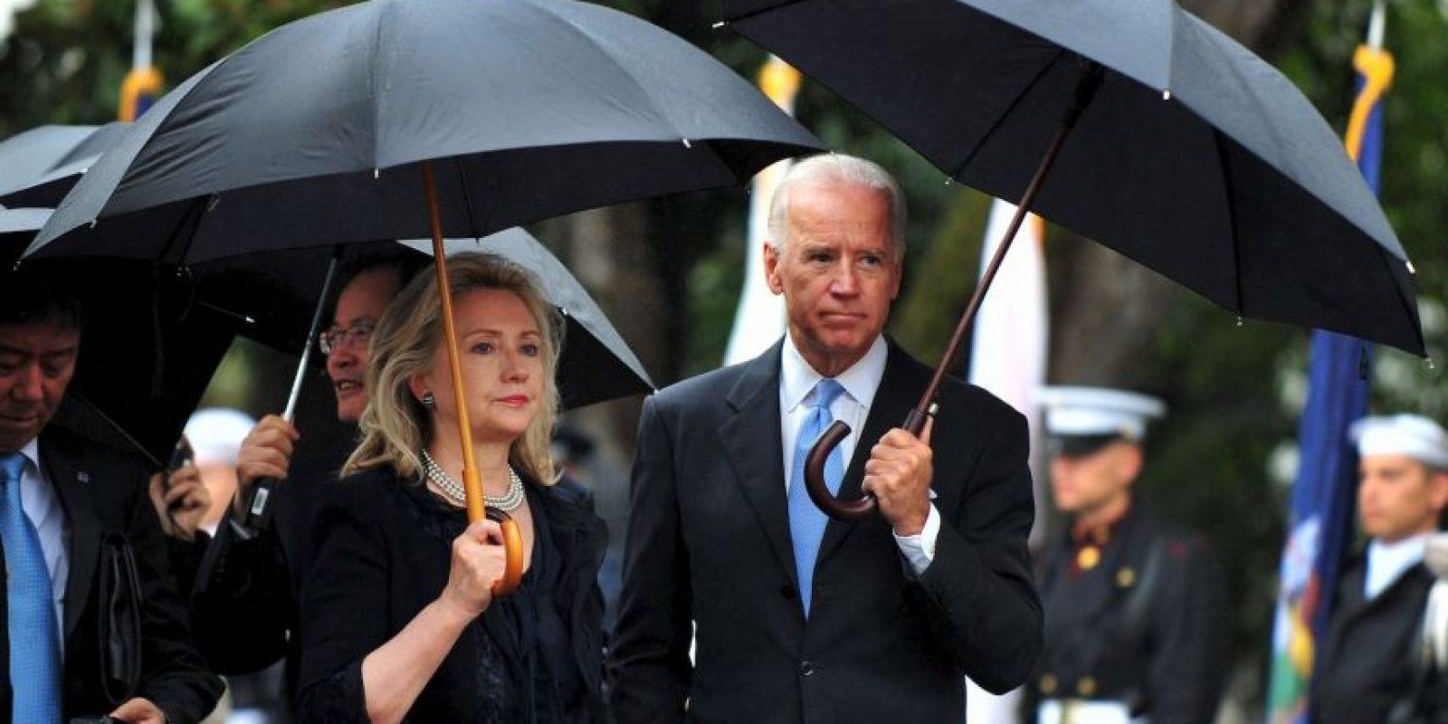 Hillary Clinton y Joe Biden, pertenecen al Partido Demócrata estadounidense. Foto:Getty Images