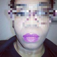 O cuando piensan que han quedado perfectos y este es el verdadero resultado. Foto:Vía Instagram/#LipstickFail