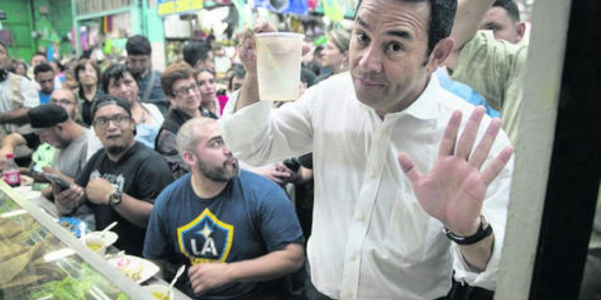 Jimmy Morales: ¿Corrupción? No me preocupa, soy honrado