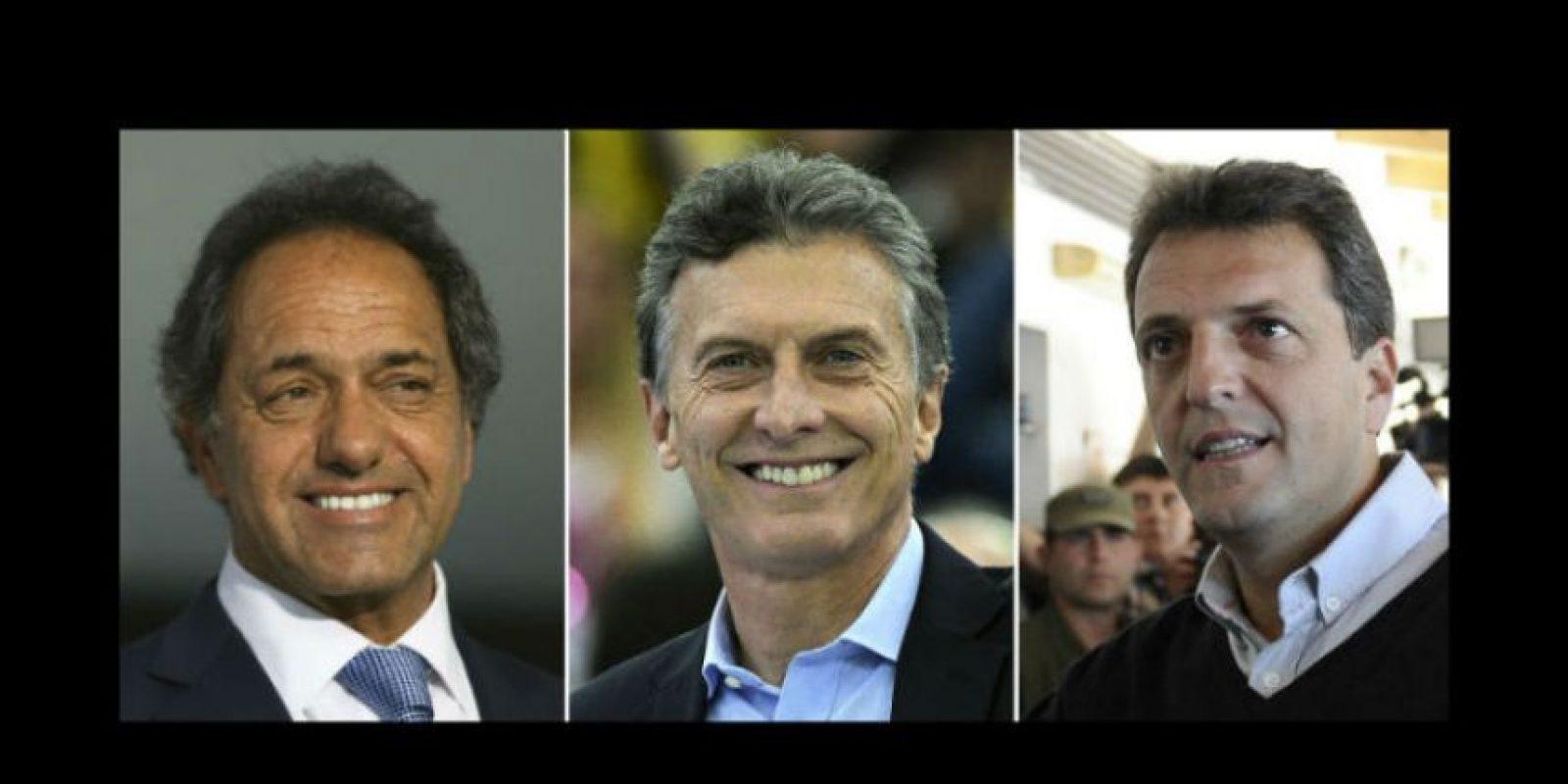 Solo tres candidatos tienen opciones de convertirse en el próximo presidente de Argentina. Foto:AFP